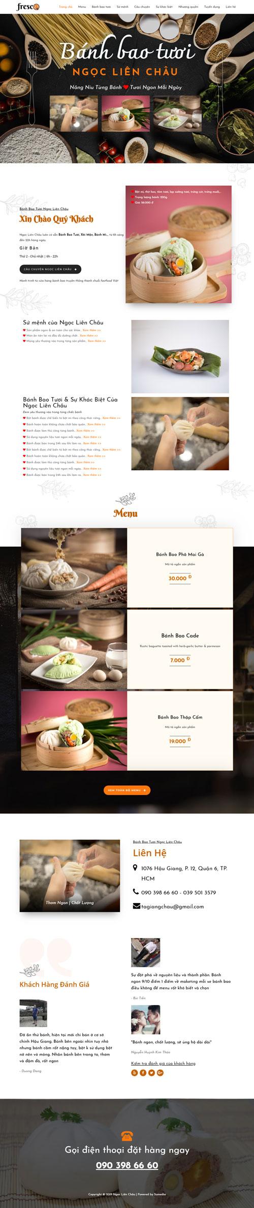 Website bán bánh bao 1