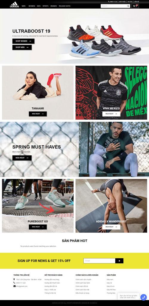 Website bán giày Adidas 1