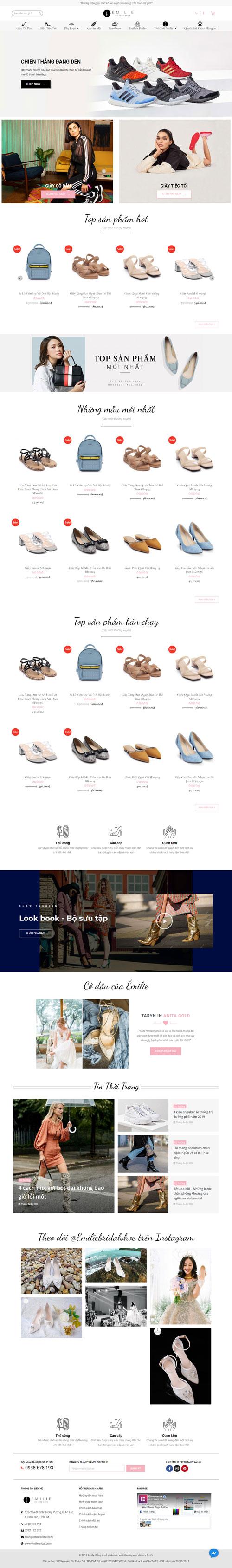 Website bán giày  nữ 1
