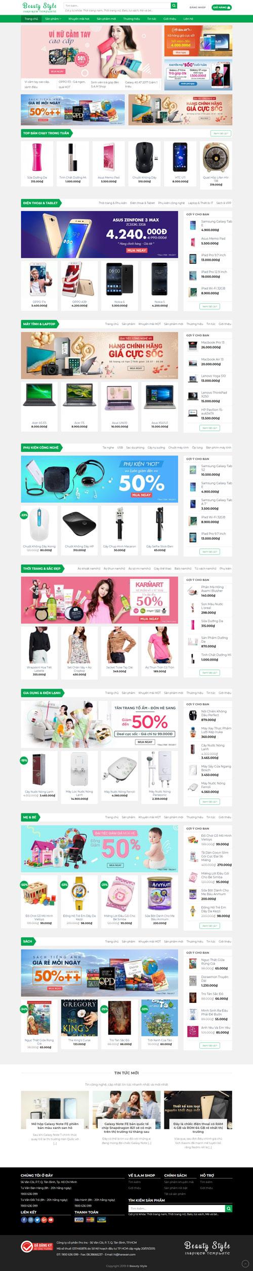 Website bán hàng xách tay Mỹ 1