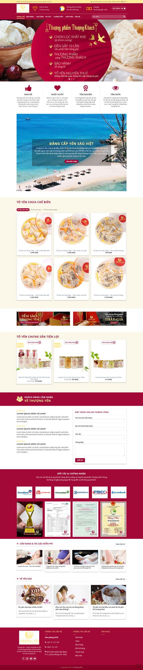 Website bán yến sào 1