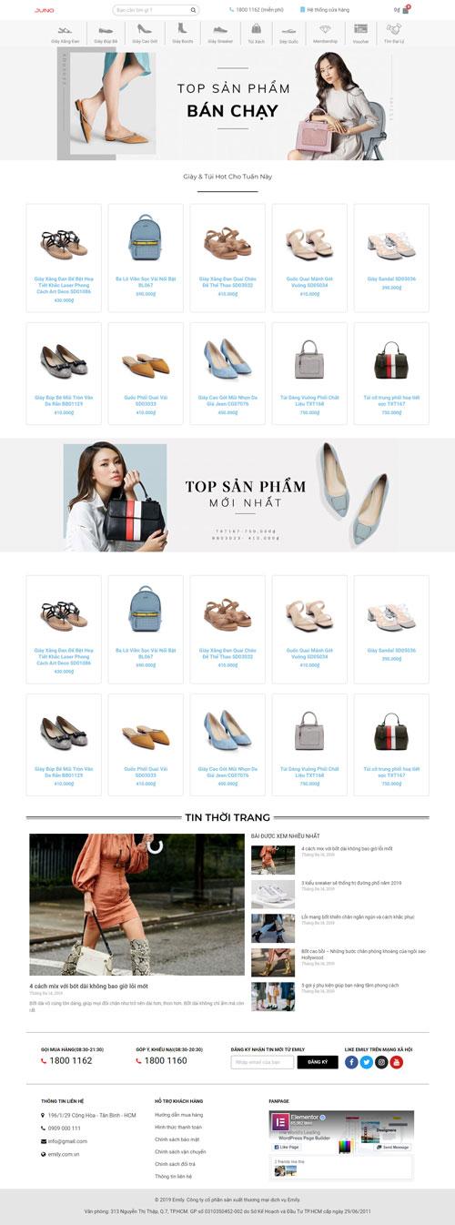 Website bán giày - túi xách nữ 1