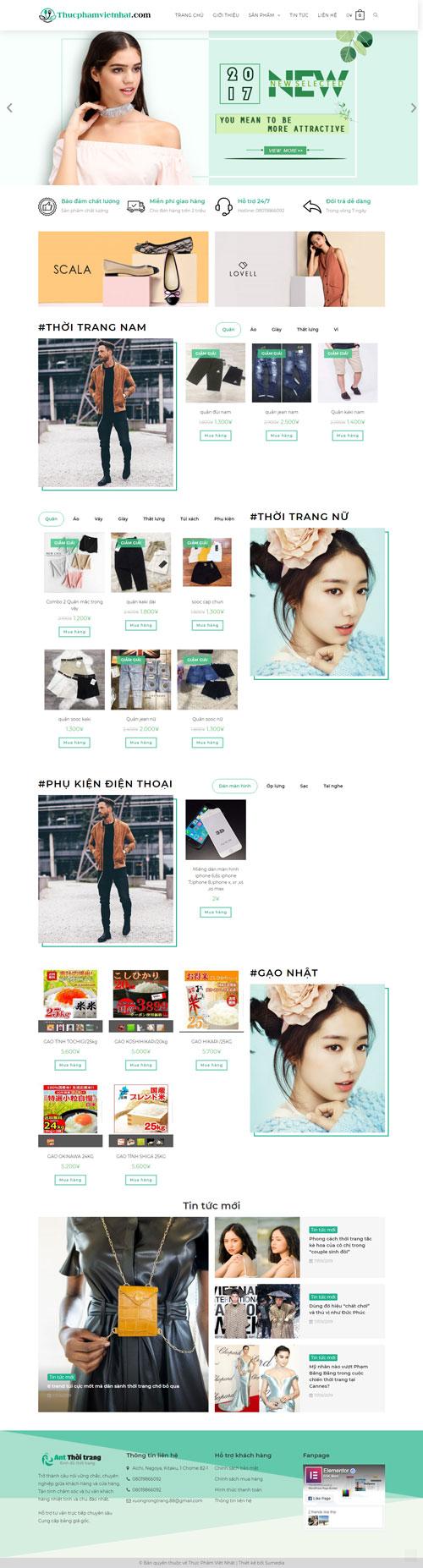 Website thời trang Việt Nhật 1