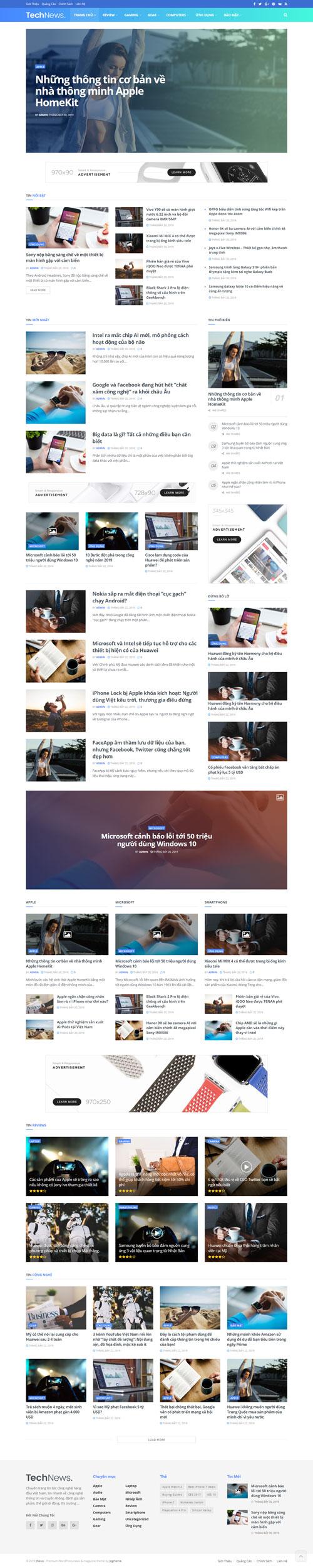 Website tin công nghệ 1