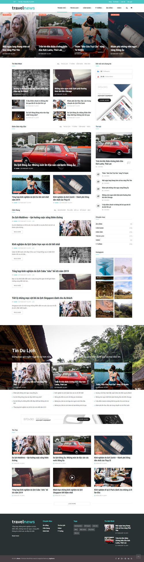 Website tin du lịch 1