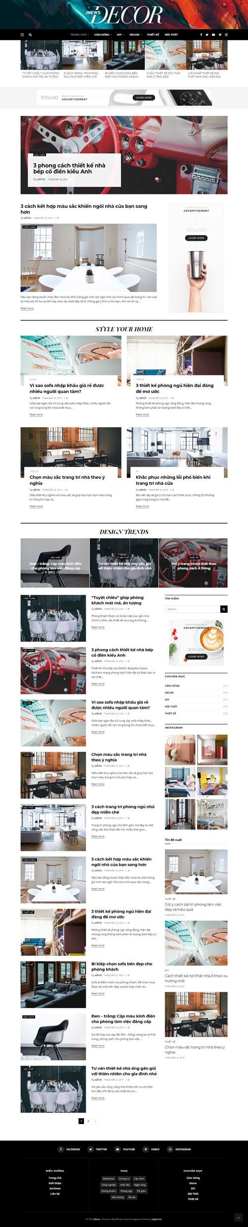 Website tin nội thất 1
