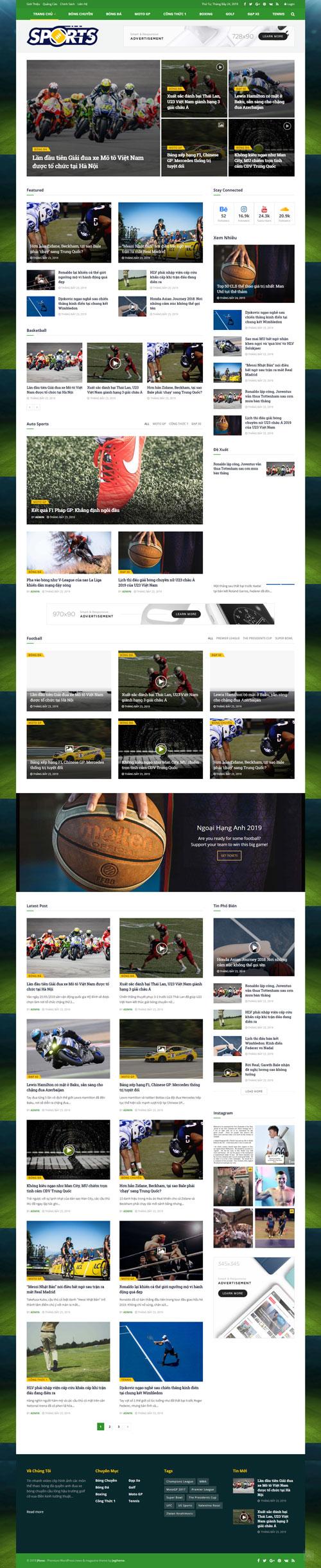 Website tin thể thao 1