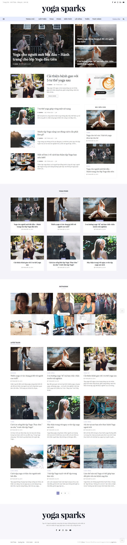 Website tin tức yoga 1