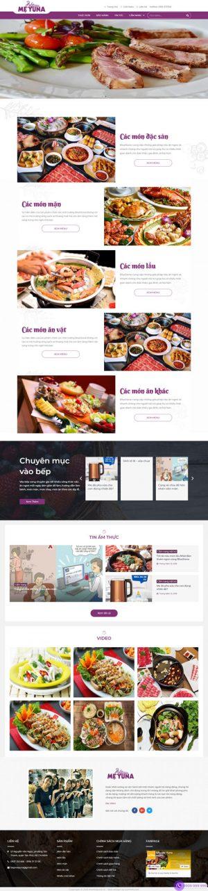Giao diện web bán đồ ăn yuna
