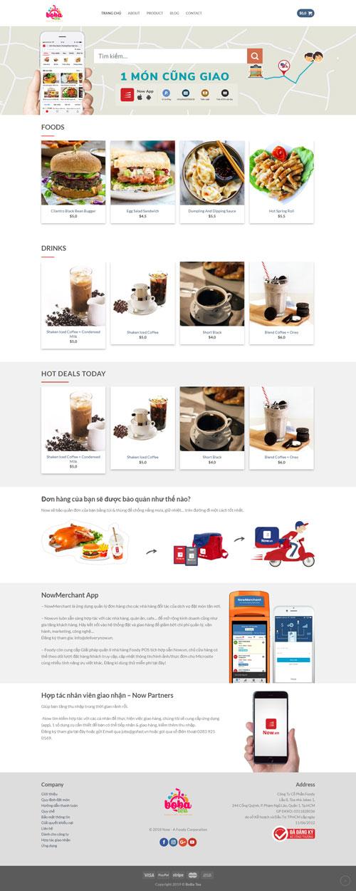Website bán đồ ăn 1