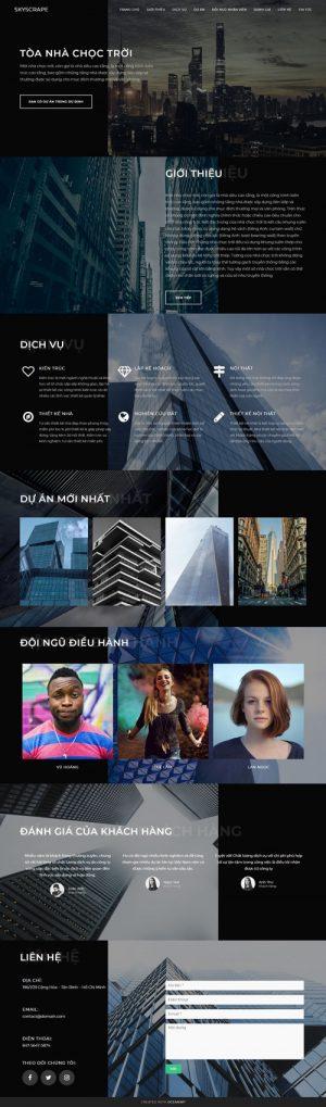 Giao diện website thiết kế xây dựng nhà
