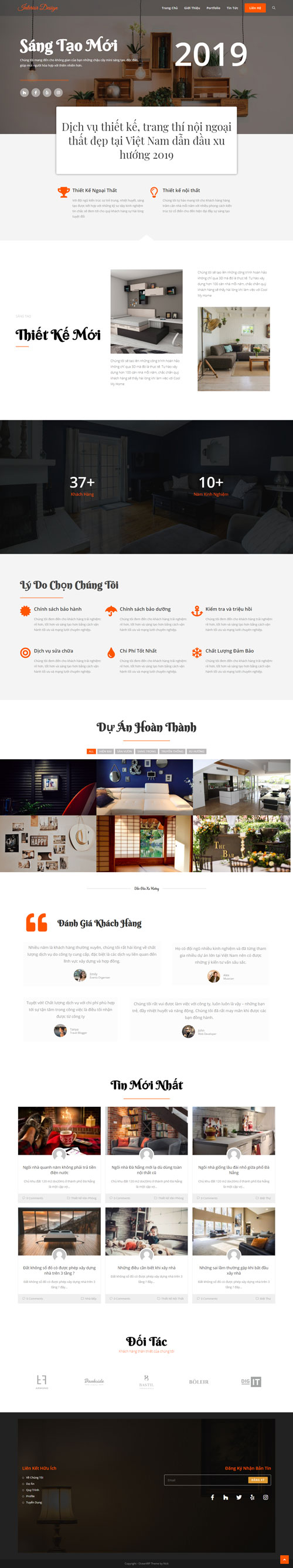 Website thiết kế nội thất Interior Design 1