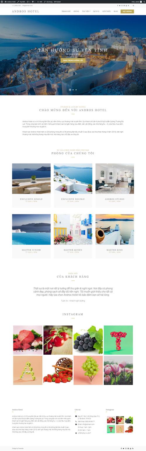 Website khách sạn Andros Hotel 1
