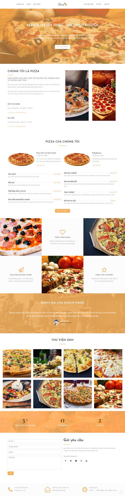 Website bán bánh Pizza 1