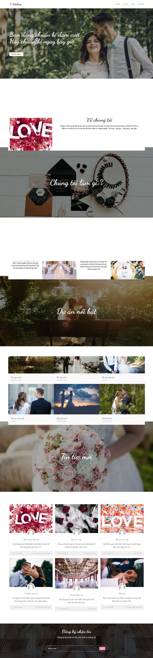 Website dịch vụ cưới hỏi 1