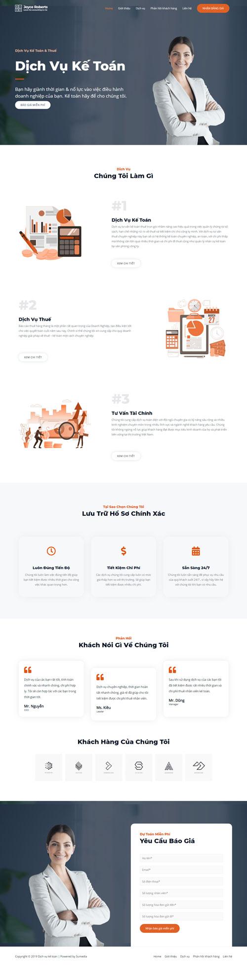 Website dịch vụ kế toán và thuế 1