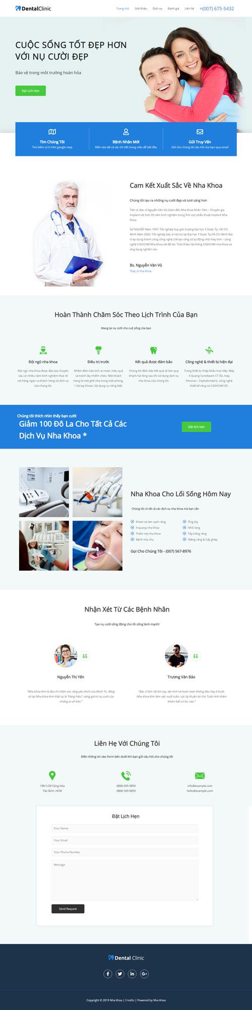 Website dịch vụ nha khoa 1
