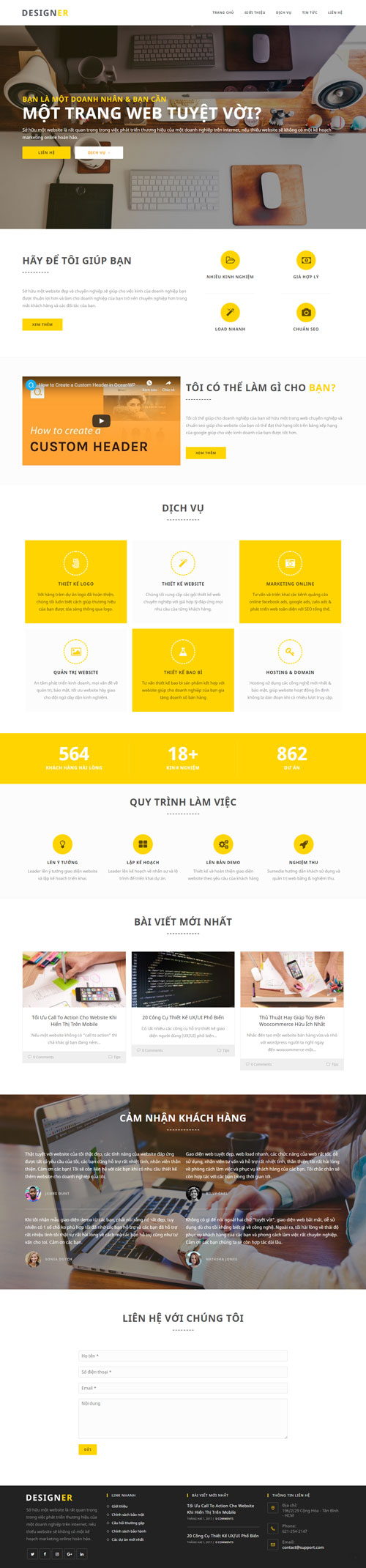 Website dịch vụ thiết kế đồ họa 1