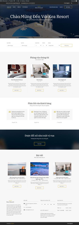 Website khu nghỉ dưỡng Kea Resort 1