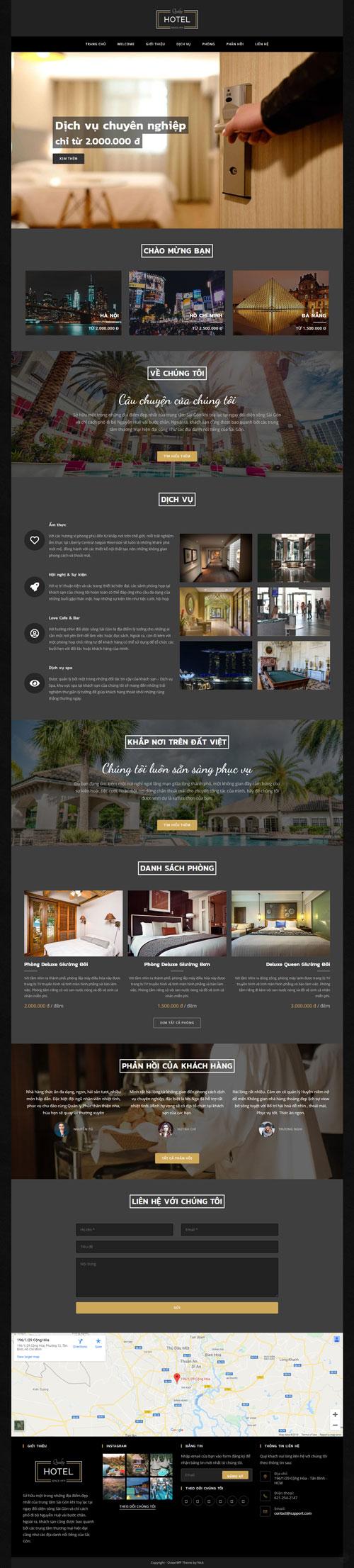 Website khách sạn 1