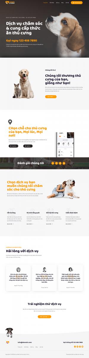 website chăm sóc thú cưng