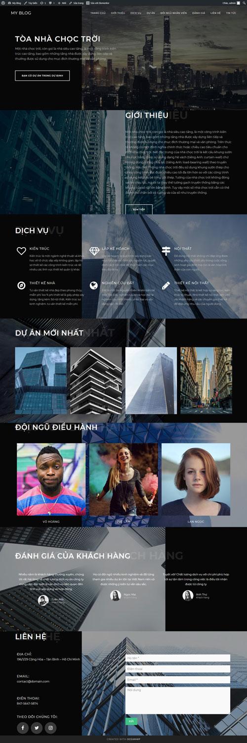 Website thiết kế & xây dựng nhà 1
