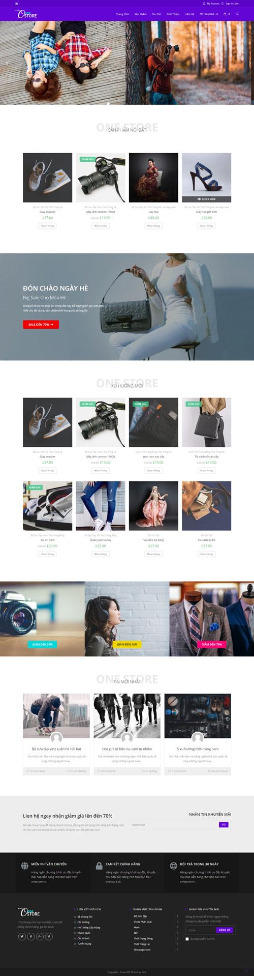 Website thời trang One Store 1