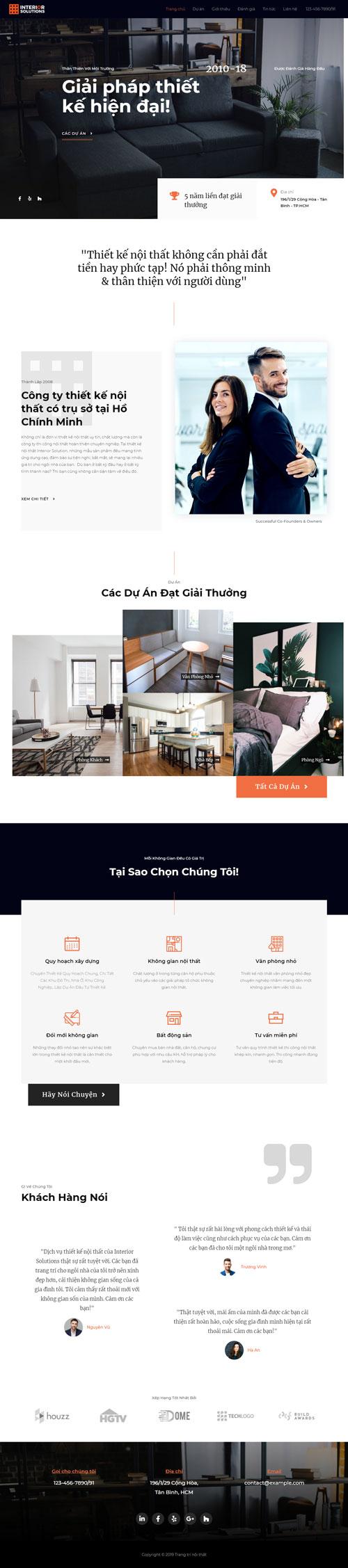 Website trang trí nội thất 1