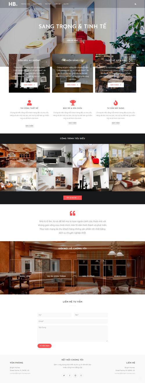 Website xây dựng nhà & trang trí nội thất 1