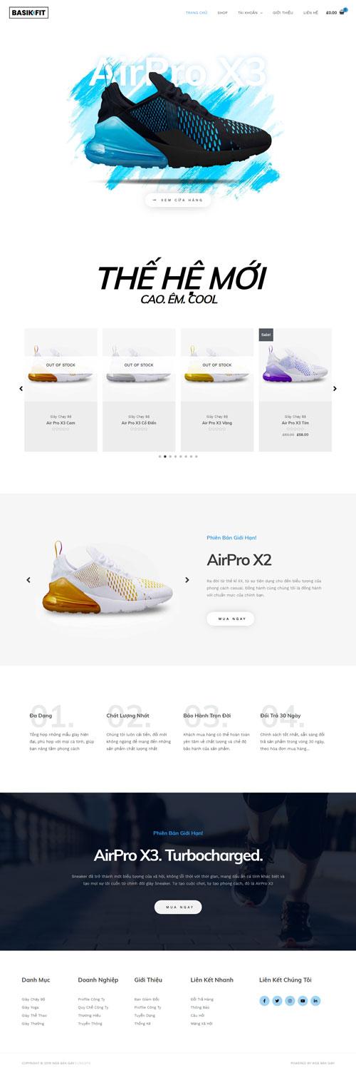 Website bán giày cao cấp 1
