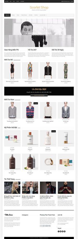 Giao diện web thời trang mỹ phẩm