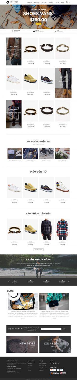 website bán thời trang hosoren