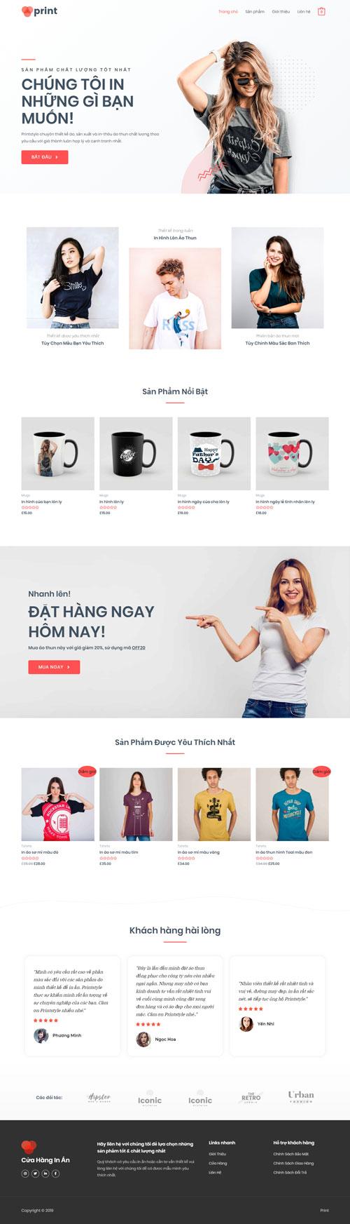Website dịch vụ in ấn 1