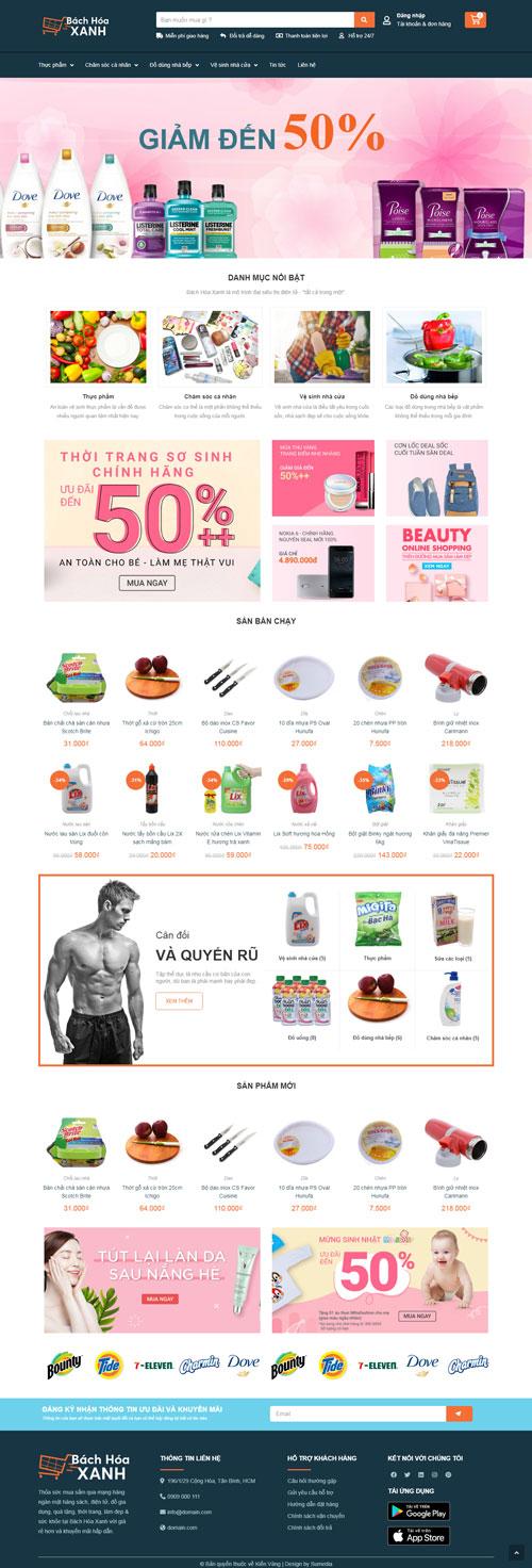 Website cửa hàng bách hóa 1