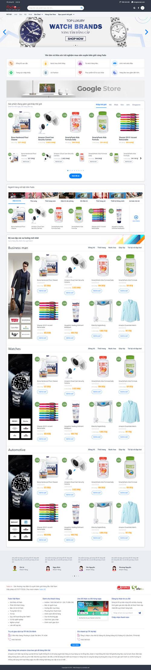 Website bán hàng thương mại điện tử 1