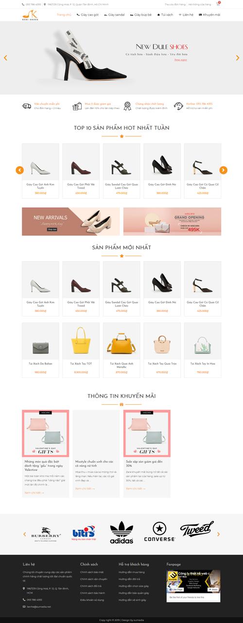 Web site bán giày và túi xách nữ 1