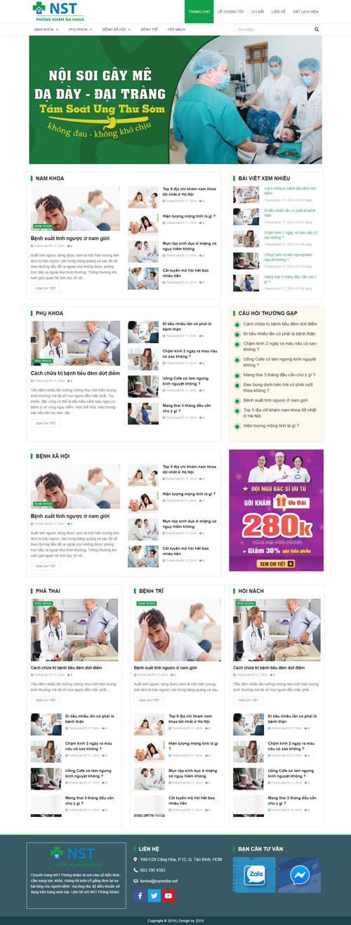 website-phong-kham-da-khoa